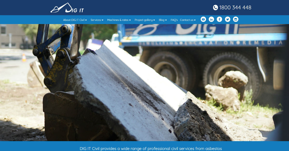 Dig It Civil Launch new website