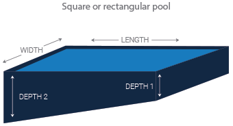 Square or rectangle pool